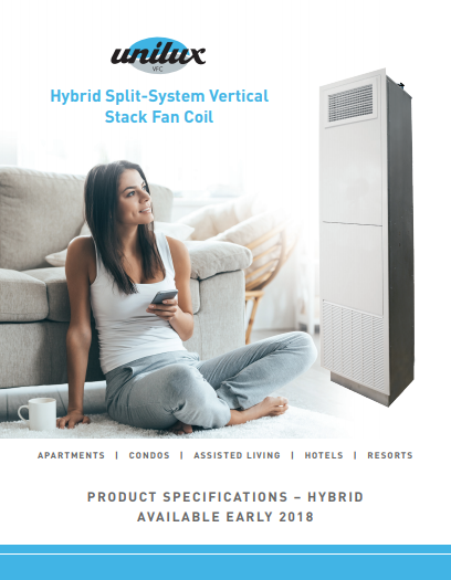 Hybrid Split-System Vertical Stack Fan Coil