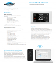 Touch Basic Wi-Fi Controller Sell Sheet