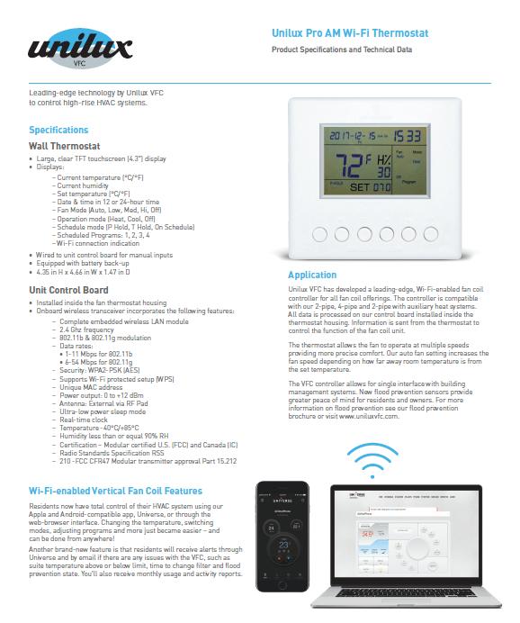 Pro Am Wi-Fi Controller Sell Sheet