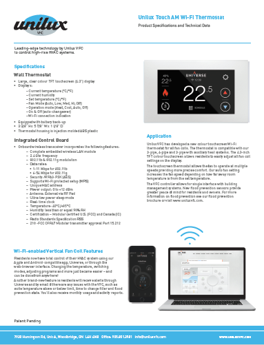 Touch AM Wifi Sell Sheet