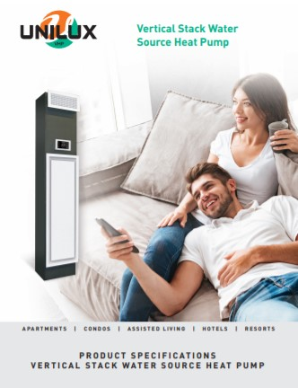 Unilux VHP Vertical Stack Water Source Heat Pump Brochure Thumbnail