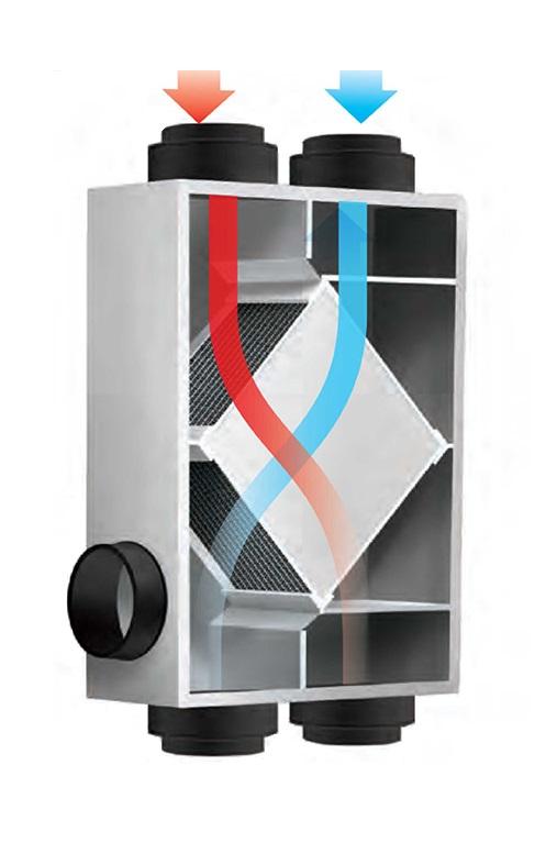 HRV/ERV Air Flow Through Cabinet Illustration