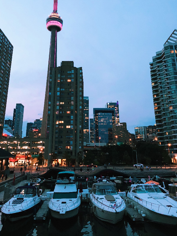 Toronto Waterfront with CN Tower